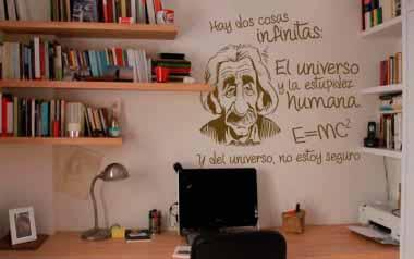 Vinilo decorativo - Einstein infinito