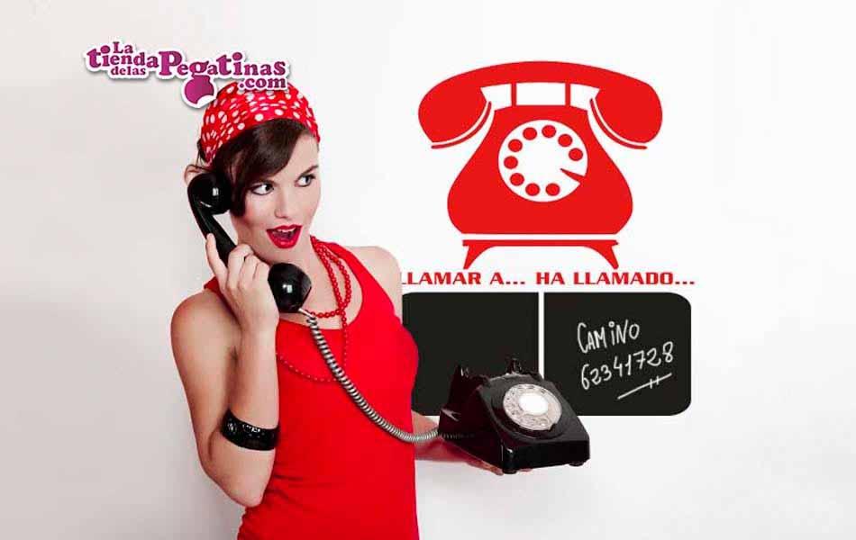 Vinilo pizarra - Al teléfono