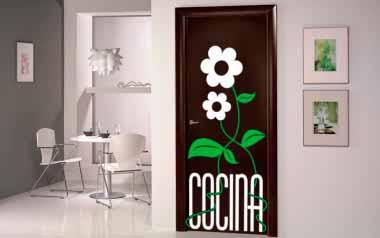 Vinilo decorativo - Puerta de cocina
