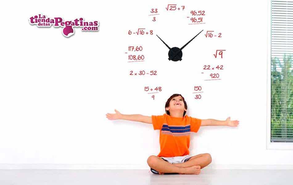 2e1808c551e3 La Tienda de las Pegatinas Vinilo decorativo Reloj Matemático M