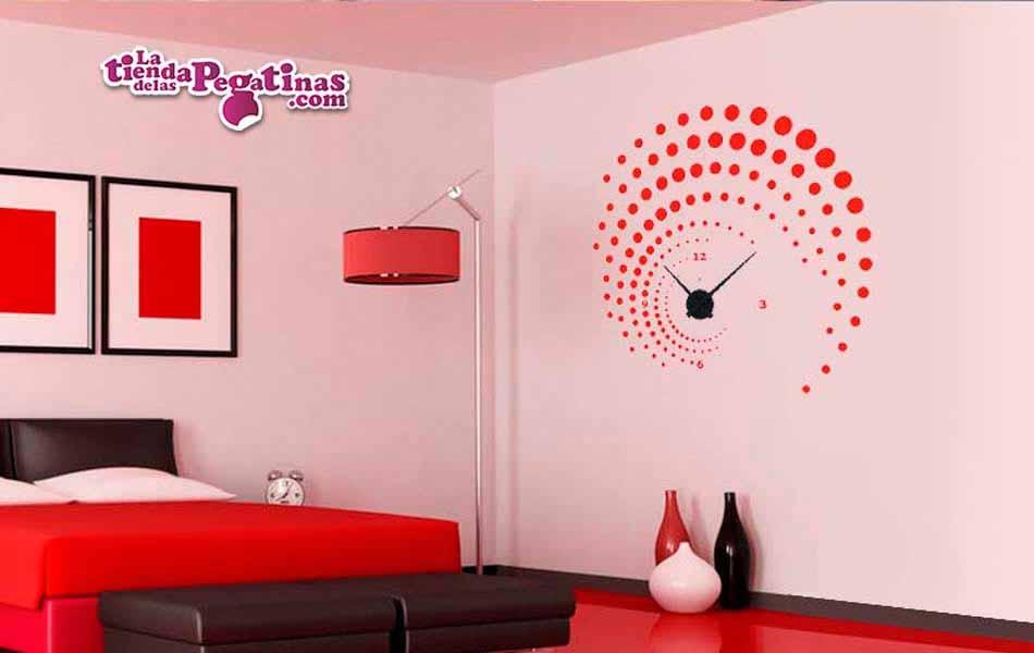 Vinilo decorativo - Reloj Espirales -M-