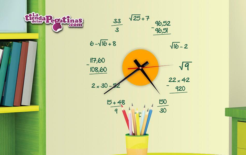 2c950ad3cde8 La Tienda de las Pegatinas Vinilo Reloj Matemático S