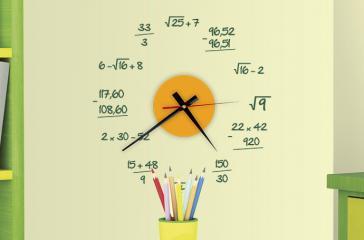 Vinilo Reloj Matemático S