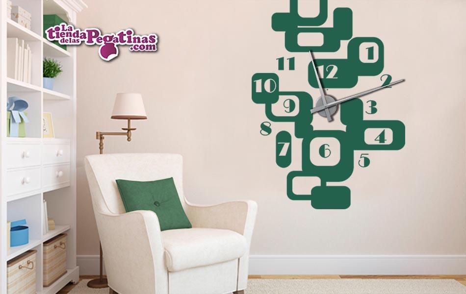 Vinilo decorativo reloj abstracto xl la tienda de las pegatinas - Reloj vinilo decorativo ...