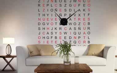 Vinilo - Reloj Sopa de Letras color -XL-