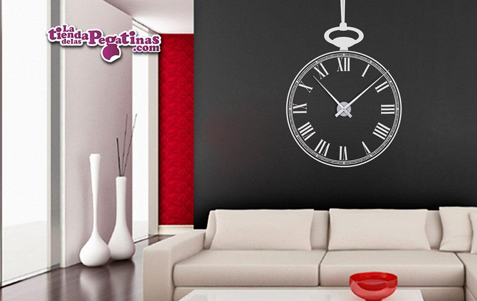 Vinilo decorativo reloj de bolsillo xl la tienda de las pegatinas - Reloj vinilo decorativo ...