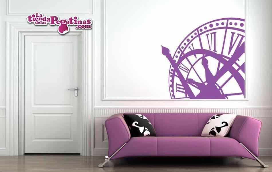 Vinilo decorativo reloj campanario la tienda de las pegatinas - Reloj vinilo decorativo ...