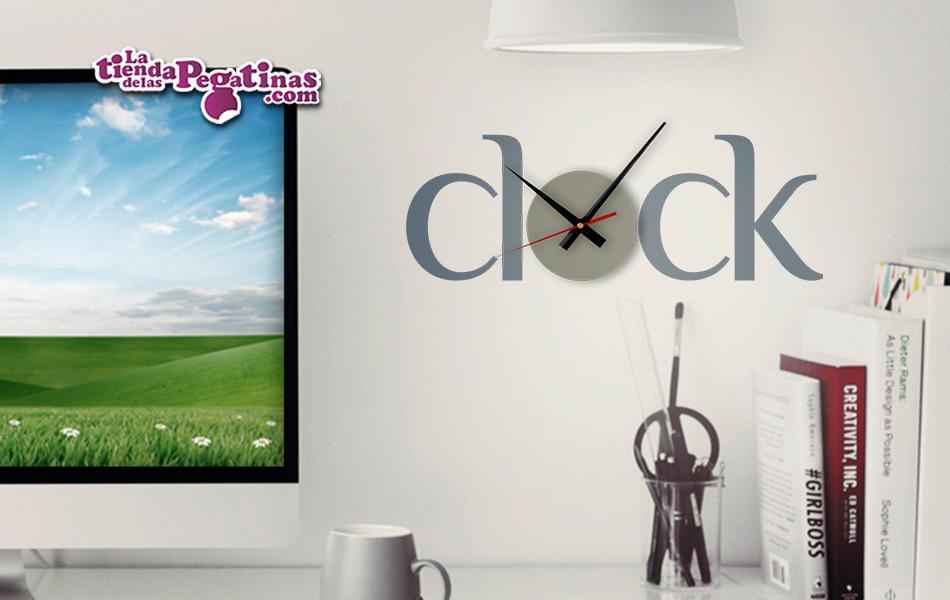 Vinilo decorativo reloj clock s la tienda de las pegatinas - Reloj vinilo decorativo ...
