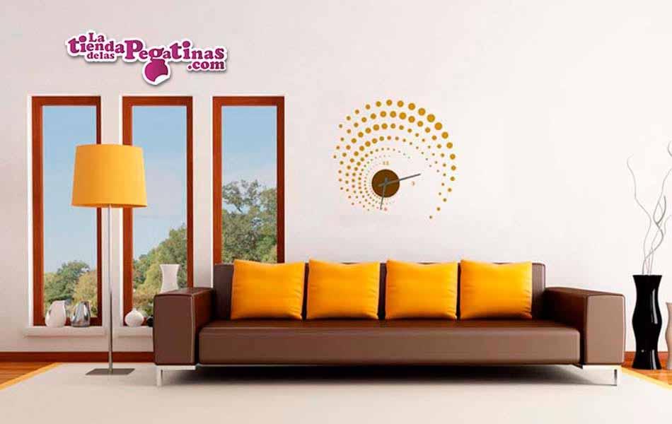 Vinilo decorativo reloj espirales s la tienda de las pegatinas - Reloj vinilo decorativo ...