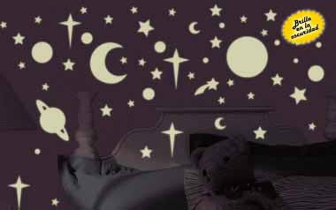 Vinilo Estrellas y planetas fosforescentes
