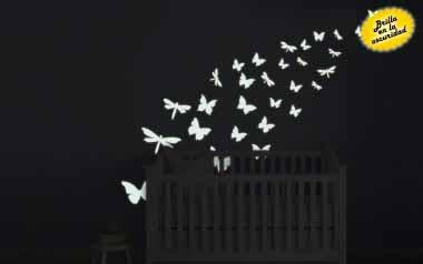 Vinilo infantil - Mariposas fosforescentes