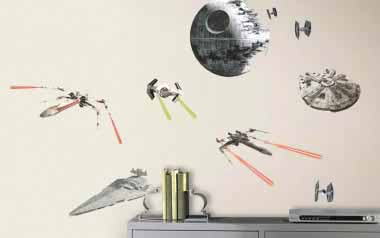 Vinilo decorativo - Star Wars Naves