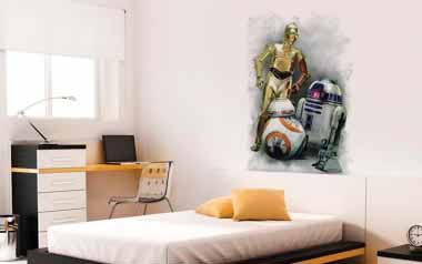 Vinilo decorativo - Star Wars Robots
