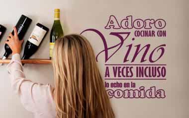 Vinilo - Adoro cocinar con vino
