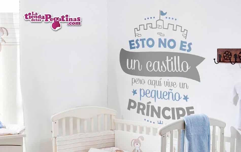 Vinilo infantil - Aquí vive un príncipe/sa