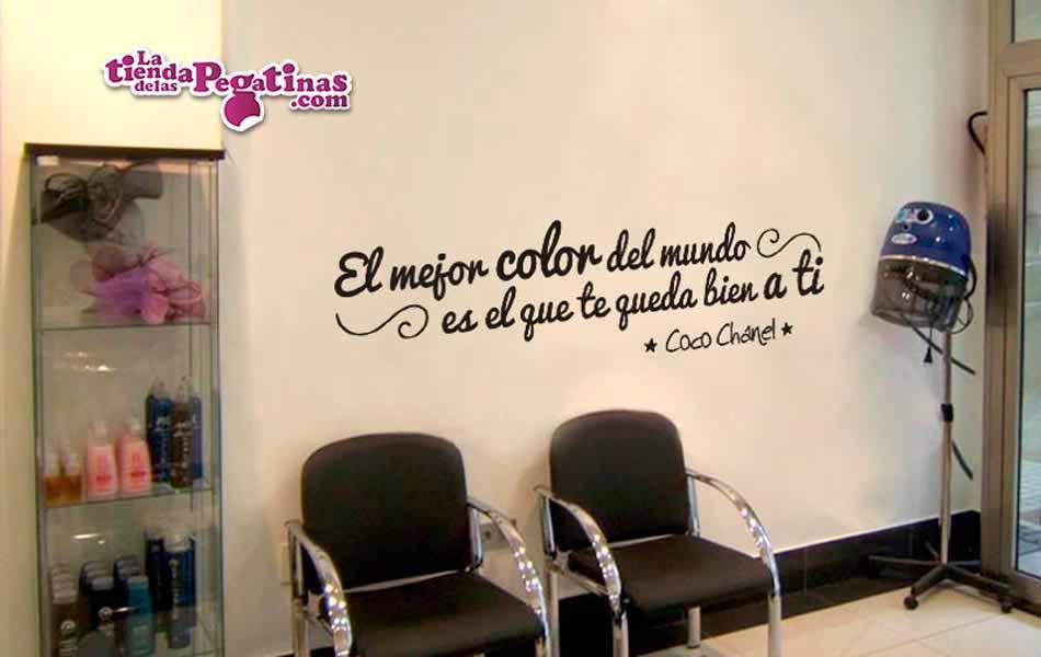Vinilo el mejor color del mundo la tienda de las pegatinas - Ideas para decorar una peluqueria ...
