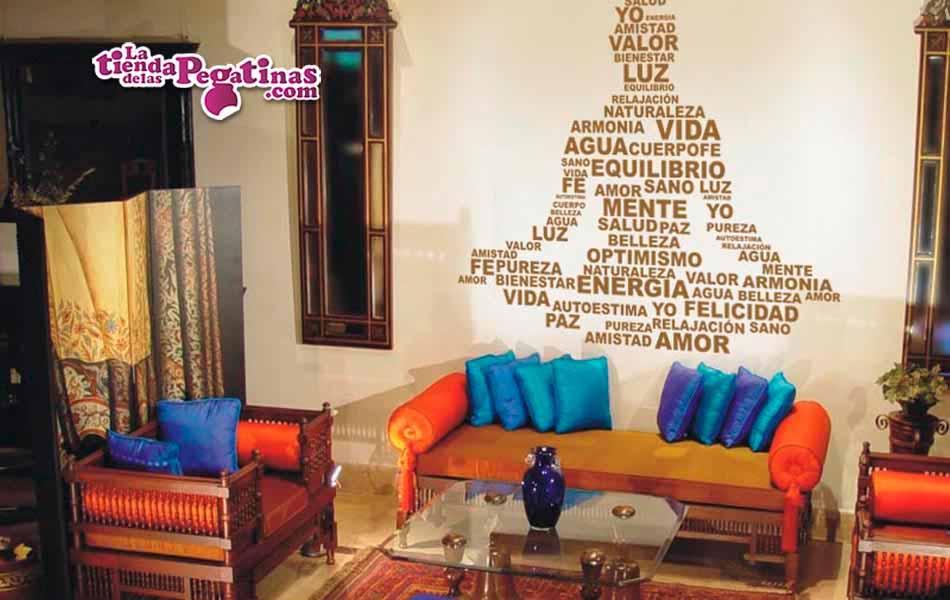 Vinilo decorativo texto buda la tienda de las pegatinas - Frases para paredes habitaciones ...