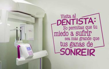 vinilo visita al dentista