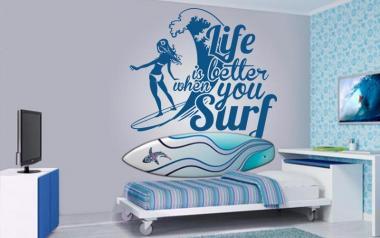 Vinilo decorativo Surf life