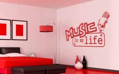 Vinilo decorativo - Music is my life