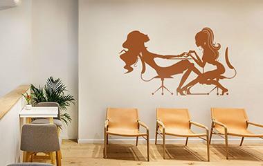 Vinilo decorativo Ilustración salón de belleza