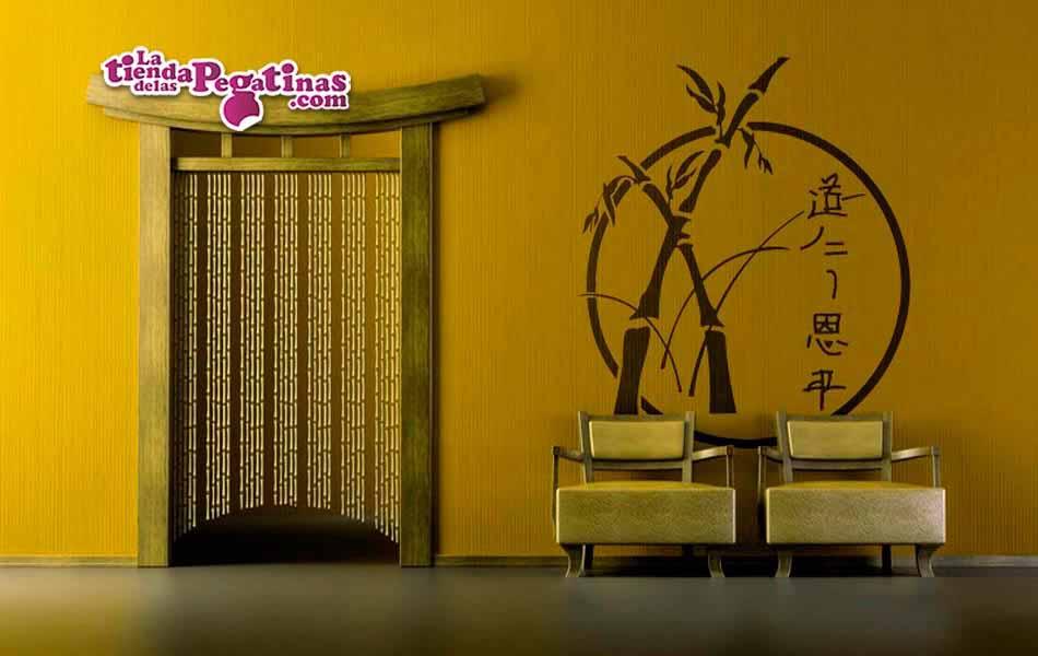 Vinilo decorativo bambu japo la tienda de las pegatinas - Vinilos decorativos zen ...