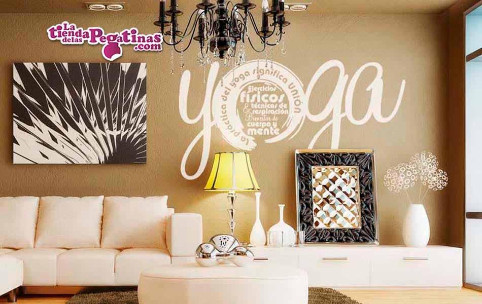 Vinilo decorativo yoga es la tienda de las pegatinas - Vinilos decorativos zen ...