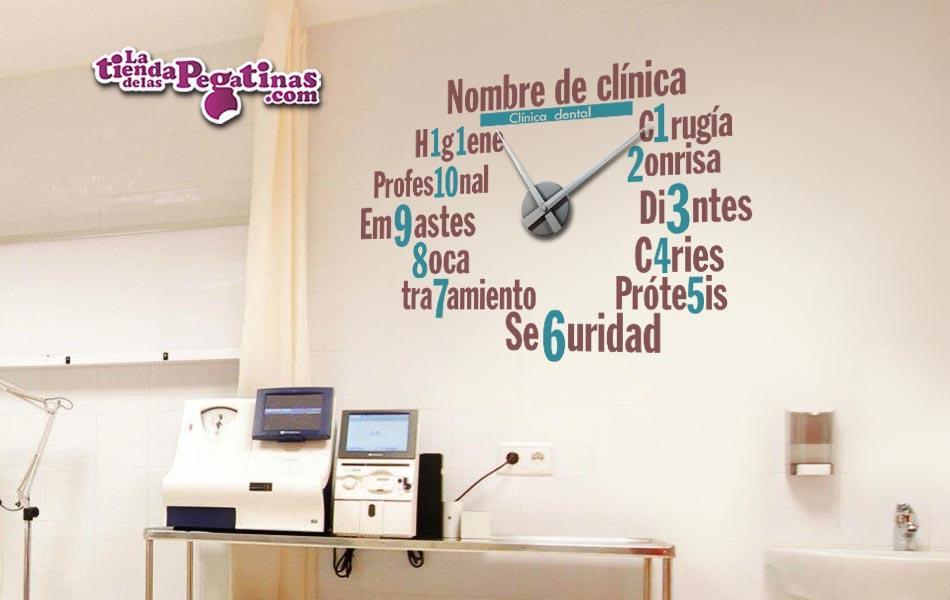 Reloj en vinilo para dentistas m la tienda de las pegatinas - Reloj vinilo decorativo ...