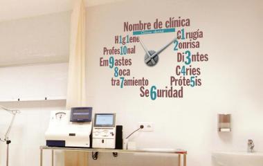 Vinilo decorativo - Reloj para dentistas -M-