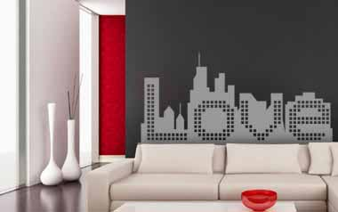 Vinilo decorativo - Love city