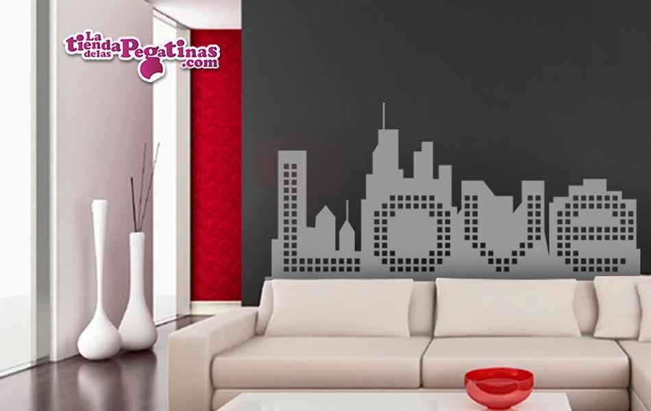 Vinilo decorativo - Love city