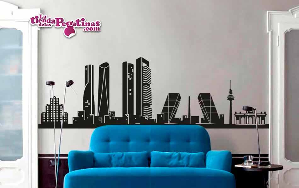 Vinilo decorativo skyline de madrid - Vinilos pared madrid ...