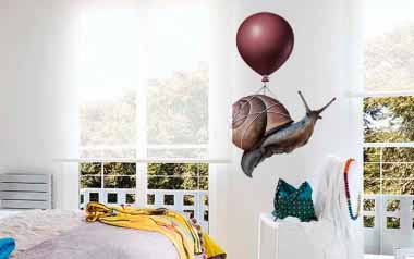 Vinilo decorativo - Caracol en globo