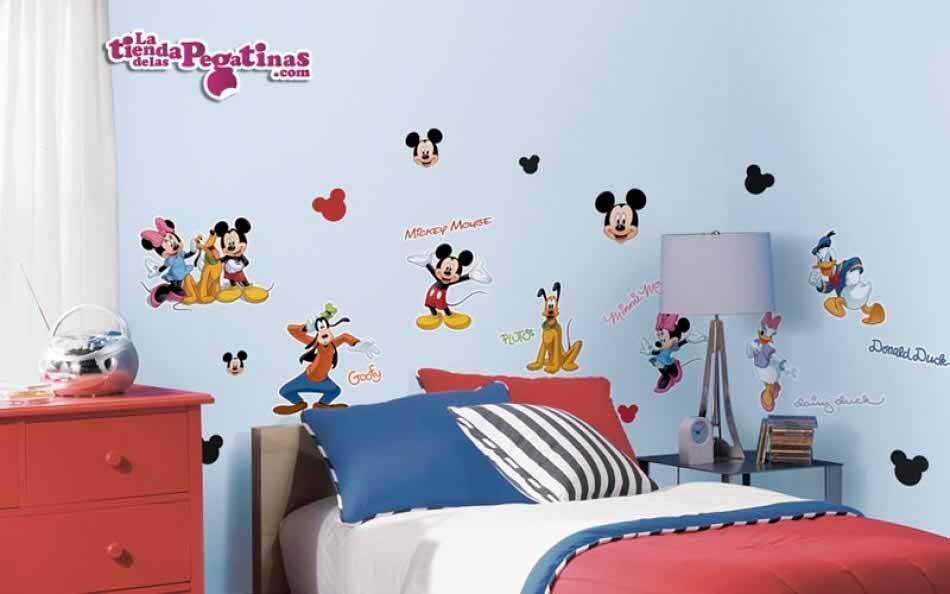 Vinilos Mickey Mouse Para Pared.Vinilo Mickey Mouse Y Sus Amigos La Tienda De Las Pegatinas