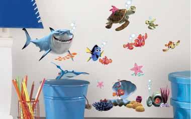 Vinilo - Personajes Buscando a Nemo