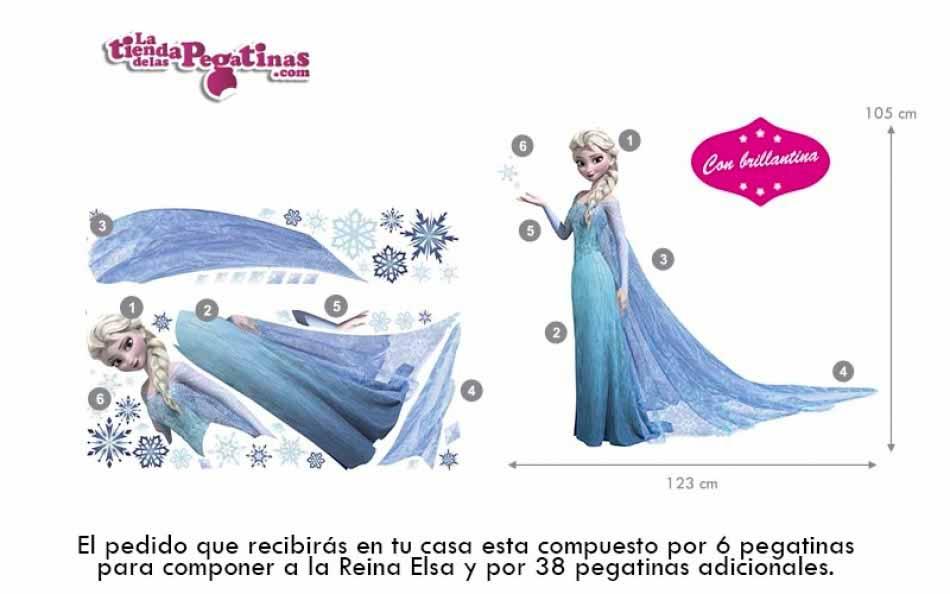 Vinilo  Frozen Reina Elsa