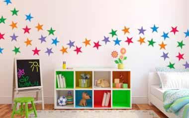 Vinilo infantil Estrellas de colores