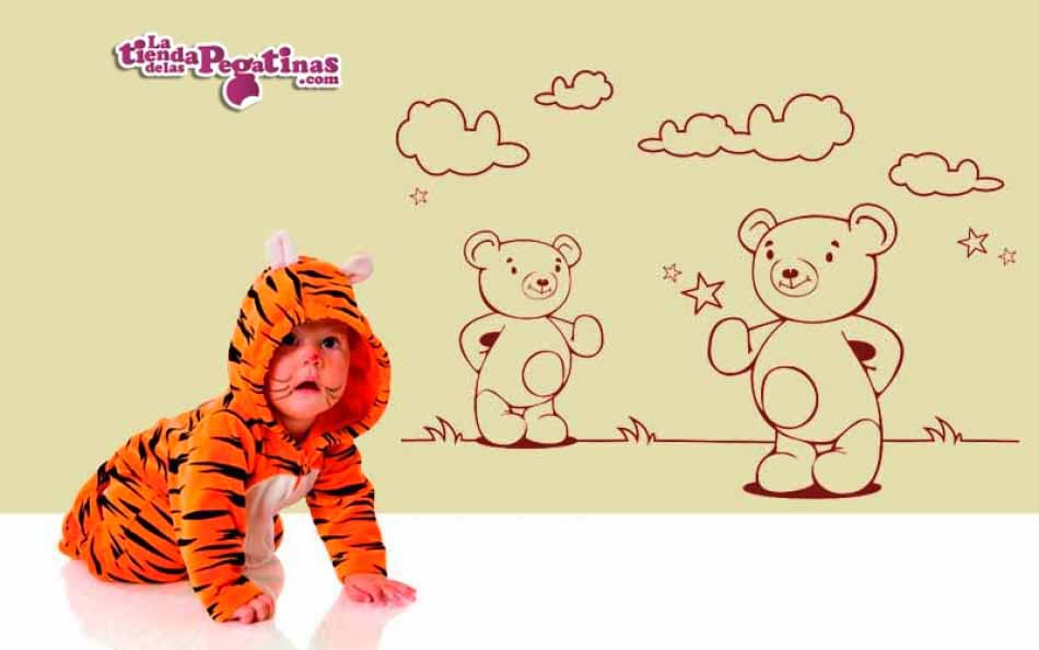 Vinilo infantil - Pareja de osos