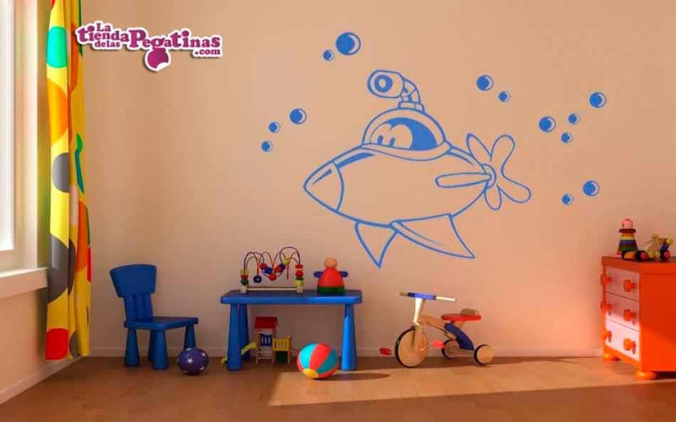 Vinilo infantil - Submarino Infantil