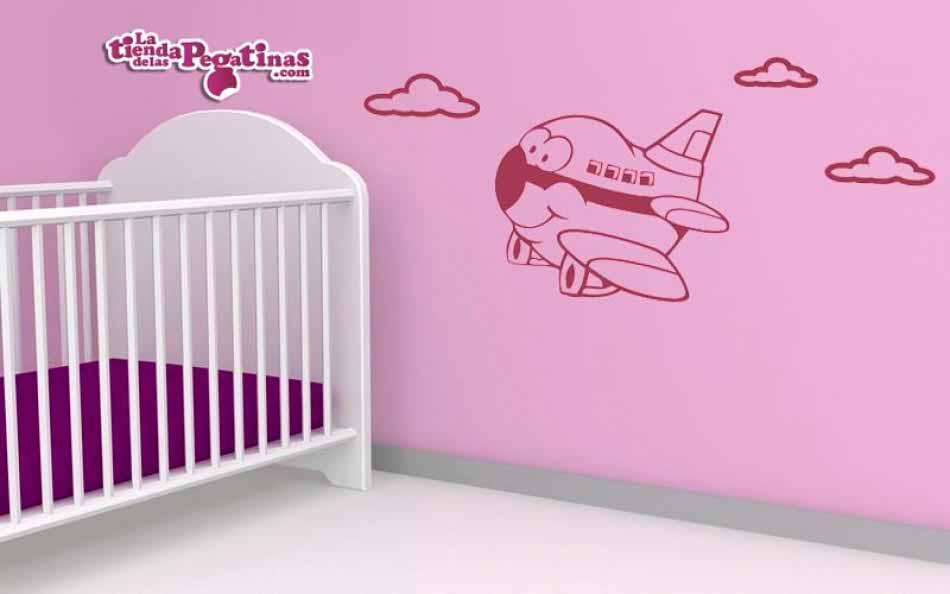 Vinilo infantil - Avión de pasajeros