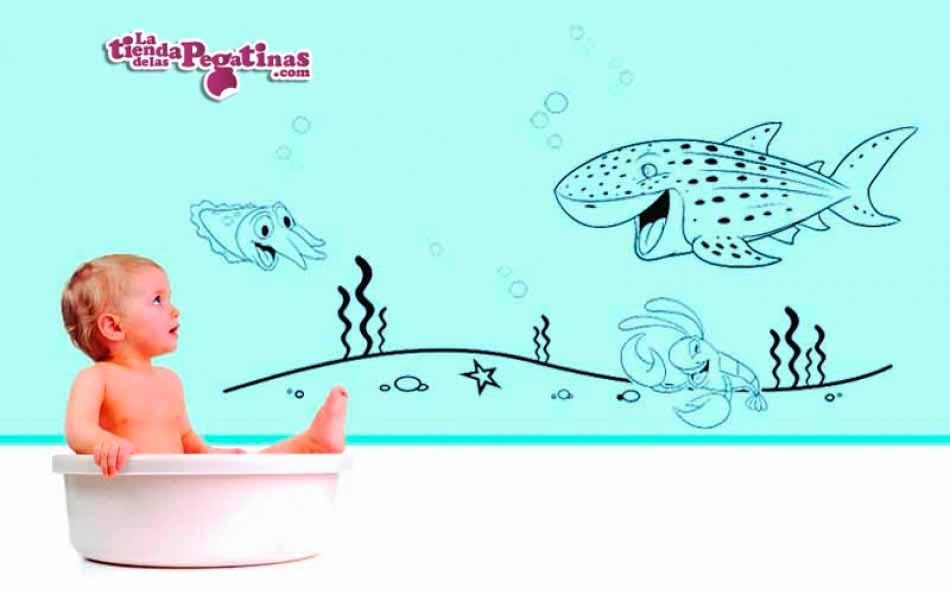 Vinilo infantil - Fondo Oceánico