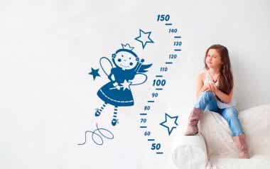 Vinilo infantil Medidor Hada Madrina