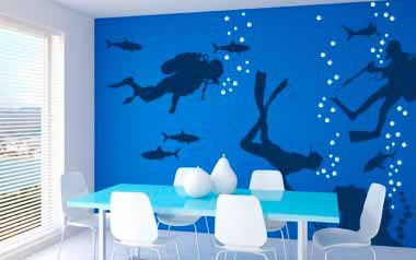 Vinilo decorativo - Buzos y submarinistas