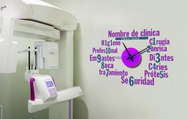 Vinilo Reloj para dentistas S