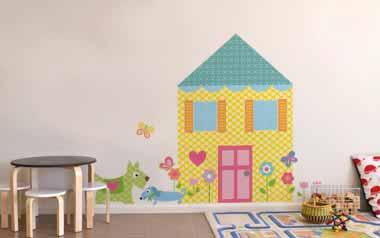 Vinilo infantil Construye tu casa