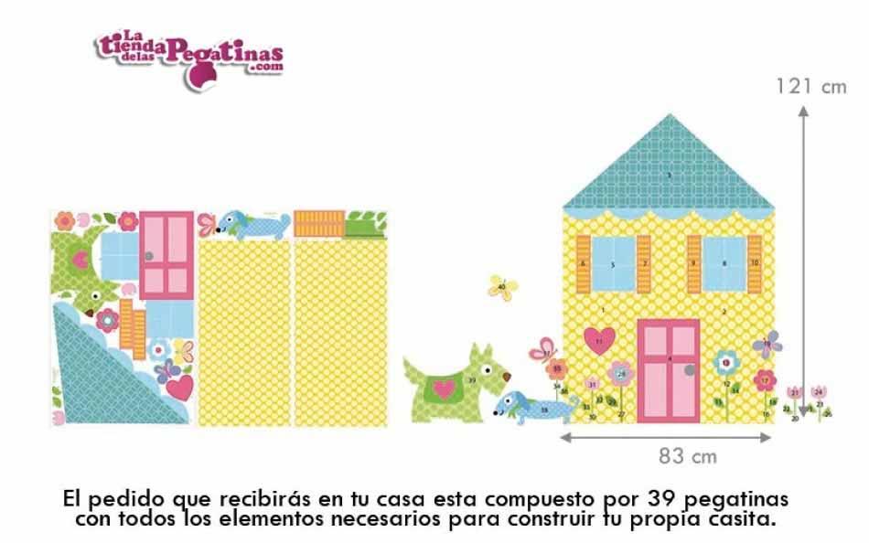 Vinilo infantil construye tu casa la tienda de las pegatinas - Construye tu propia casa ...