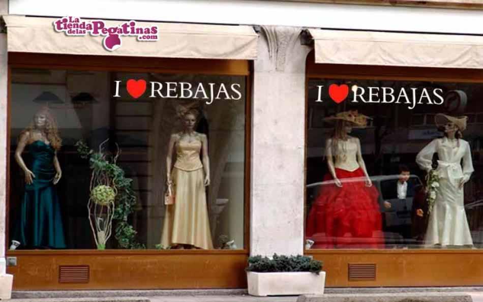 Vinilo decorativo - I love Rebajas