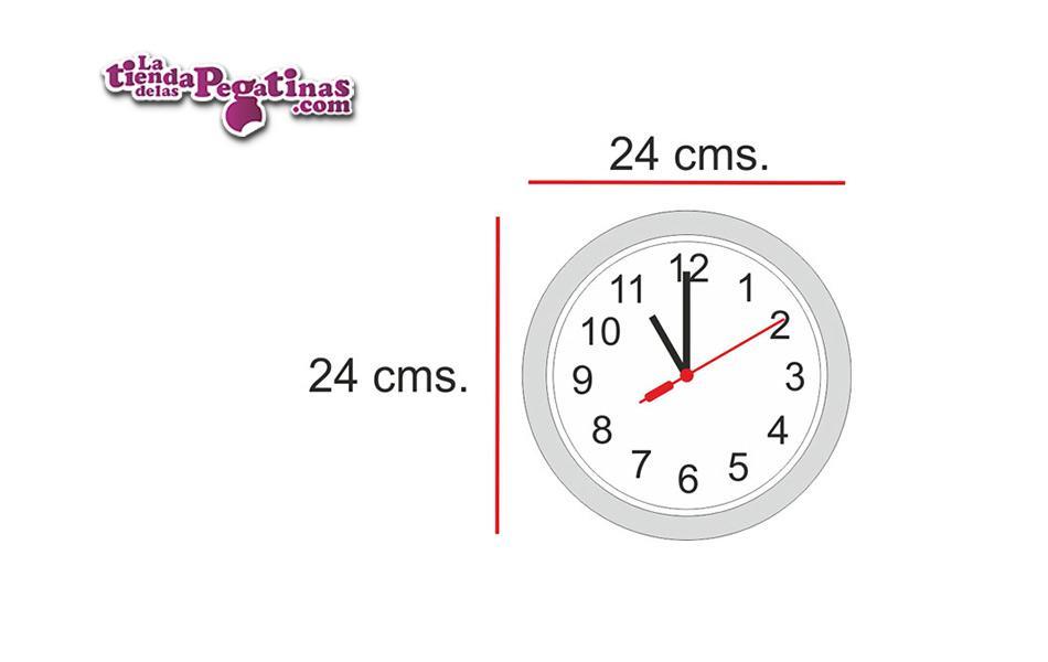 Vinilo Reloj franjas horarias