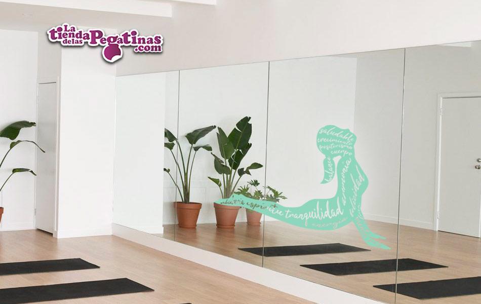 pegatina masaje yoga spa